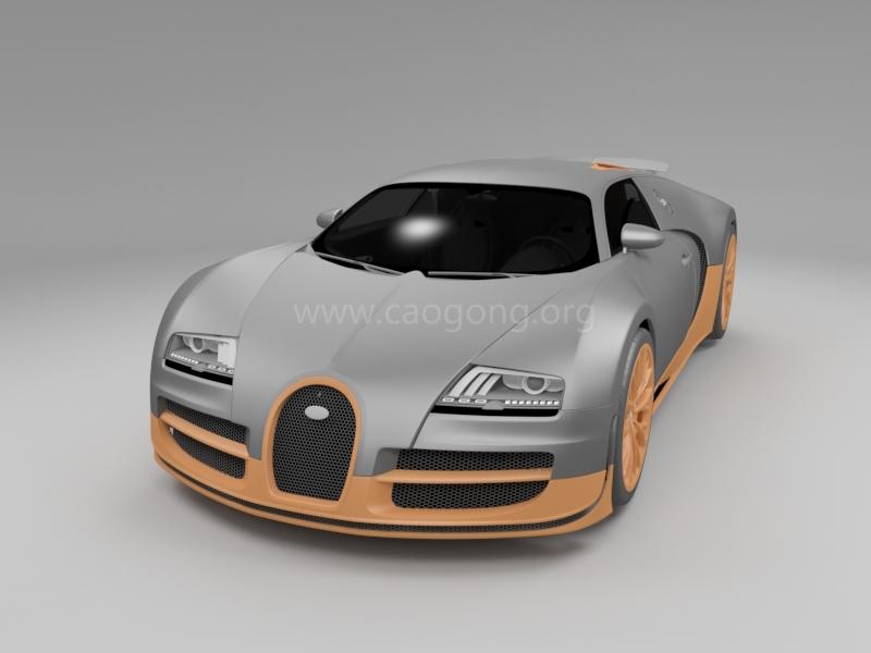 布加边威龙汽车模型