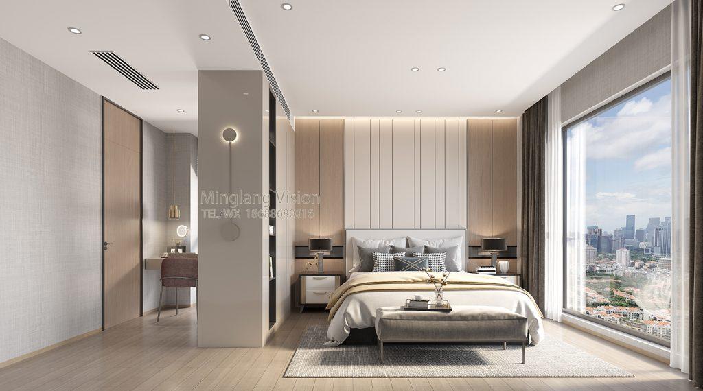 南山博林天瑞8栋4A主卧室